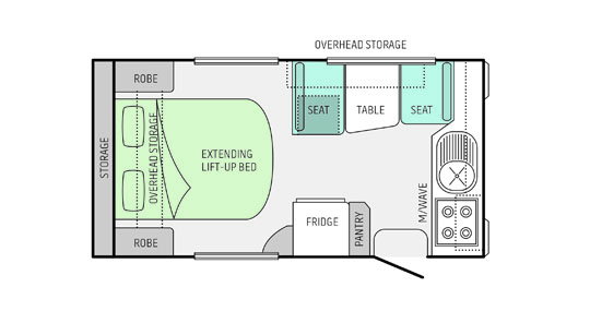 Jayco Floorplan for the Starcraft,13.42-2.