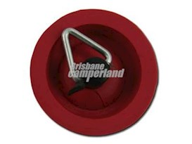 25MM RED RUBBER SINK PLUG W/PULL SHACKLE