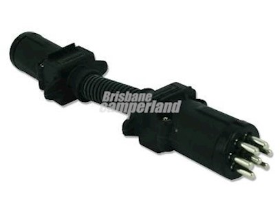 ADAPTOR - 6PIN RND SML (CAR) TO 7PIN RND SMALL (TRAILER)