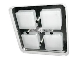 CRYSTAL ROOF LIGHT 4 SECTION - COOL WHITE