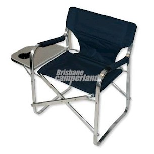 ALUMINIUM DIRECTORS CHAIR WITH MINI TABLE