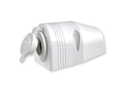 12V SURFACE MOUNT ACCESSORY SOCKET - WHITE