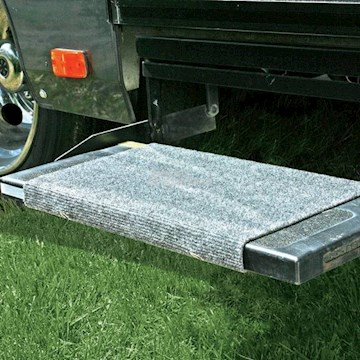 CAMCO RV WRAP AROUND STEP RUG-GREY