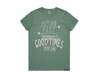 GOOD TIMES LARGE WOMENS SAGE T/SHIRT