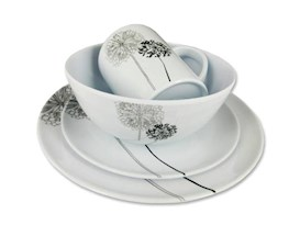 COAST DANDELIONS MELAMINE 16PC DINNER SET