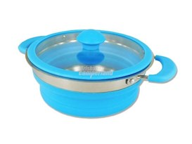 BLUE COLLAPSIBLE SAUCEPAN 1.5 LITRE