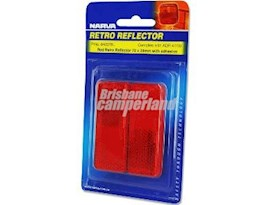 REFLECTOR RED ADHESIVE 70MM X 28MM - 2 PACK