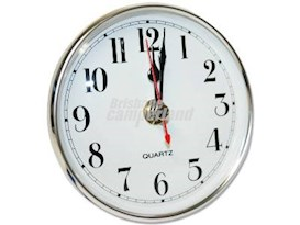 CLOCK - WHITE FACE SILVER BEZEL - SMALL