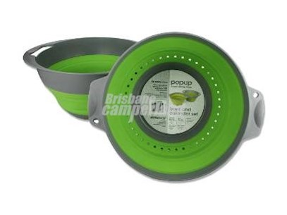 POP UP COMBO COLANDER AND BOWL - GREEN