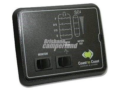 JRV 1 TANK & BATTERY MONITOR - WITH PUMP SWITCH