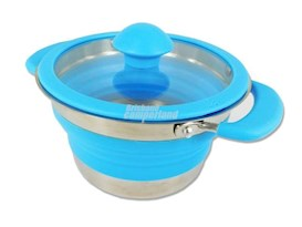 BLUE COLLAPSIBLE SAUCEPAN 1 LITRE