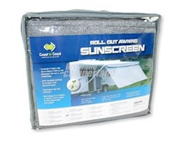 17' COAST SUN SCREEN SHADE T/S CAREFREE AWNING - 4940MM X 1800MM