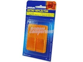REFLECTOR AMBER ADHESIVE 70MM X 28MM - 2 PACK