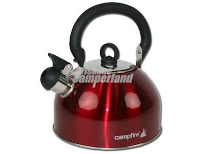 2.5L STAINLESS STEEL WHISTLING KETTLE - RED
