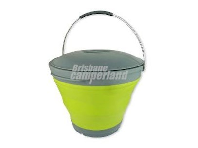 POP UP BUCKET WITH LID 9.5 LITRE - GREEN